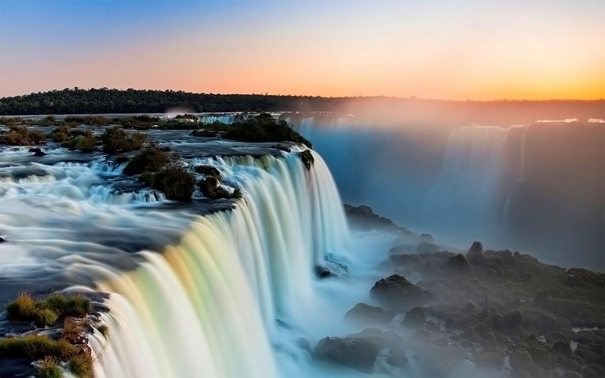 Водопады игуасу обои на рабочий стол