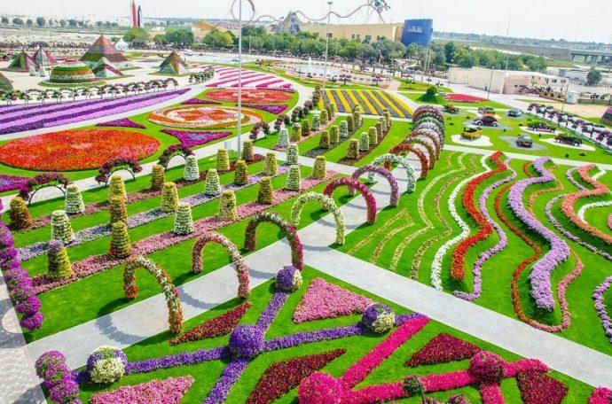 Парк цветов Дубай Миракл Гарден, ОАЭ
