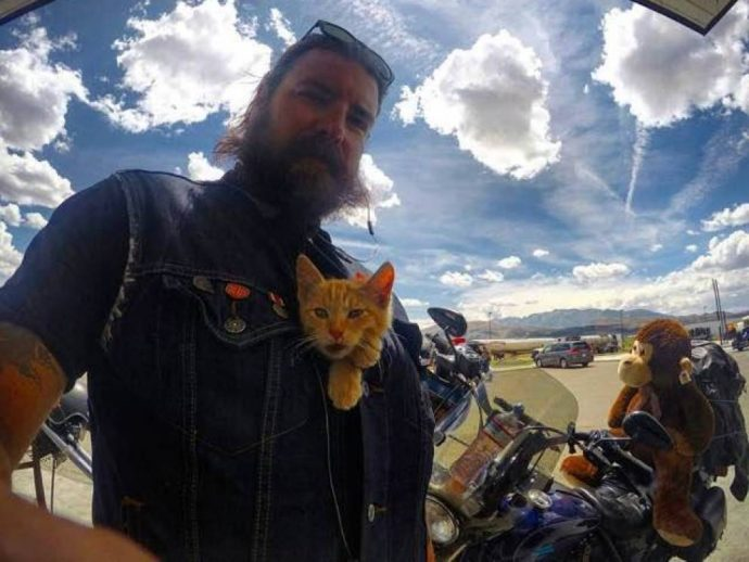 biker and his friend