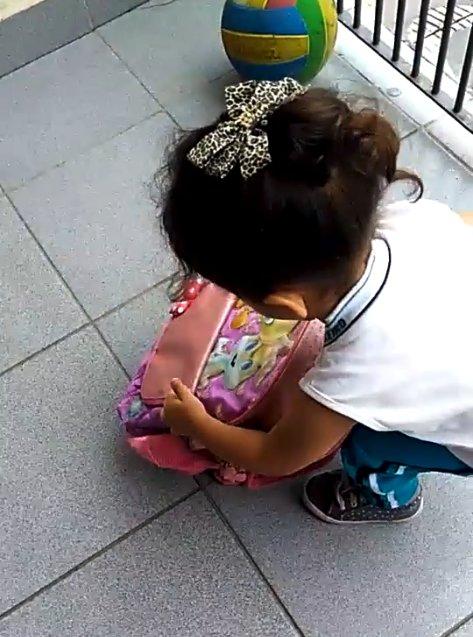 Пушистая контрабанда: деловая девочка, собираясь в школу, не забыла положить в портфель... щенка! Видео-милота :) рис 2