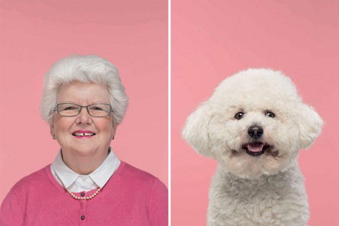 Пес и хозяйка с одинаковой стрижкой