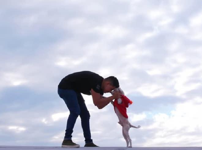 Пес с хозяином